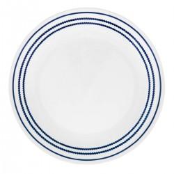 צלחת מנה עיקרית דגם קו נקודות כחול 019 קורנינג