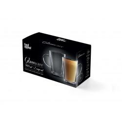 """זוג ספלים דופן כפולה לתה/קפה הפוך 300 מ""""ל דגם קניה"""