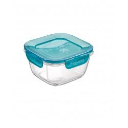 """מיכל זכוכית עם מכסה (פלסטיק) הרמטי 750 מ""""ל"""