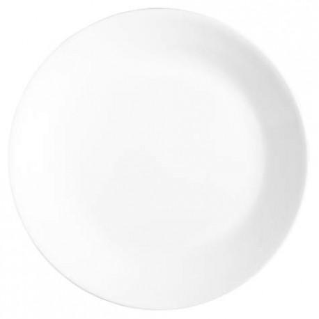 צלחת עוגה דגם לבן חלק קורנינג