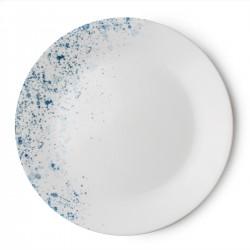 צלחת מנה עיקרית דגם אינדיגו ספקל Indigo Speckle קורל קורנינג