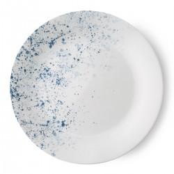 צלחת מנה ראשונה דגם אינדיגו ספקל Indigo Speckle קורל קורנינג