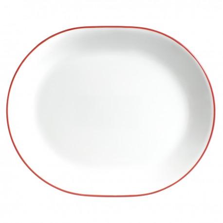מגש אובלי פס כחול/אדום/שחור קורל קורנינג