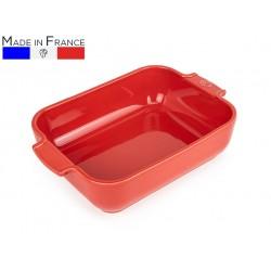 """תבנית מלבנית 32 ס""""מ קרמיקה צבע אדוםAppolia פג'ו"""