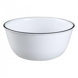 צלחת עוגה דגם קו נקודות שחור קורנינג