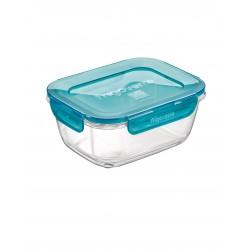 """מיכל זכוכית עם מכסה (פלסטיק) הרמטי 1000 מ""""ל"""
