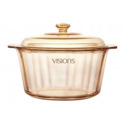 """סיר זכוכית4.1 ליטר קוטר 27 ס""""מ עם מכסה Vision Diamond"""